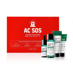 Набір мініатюр кислотних засобів для проблемної шкіри SOME BY MI AHA-BHA-PHA 30 Days Miracle AC SOS Kit