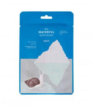 Заспокійлива тканинна маска для обличчя з муцином равлика і термальною водою Skin79 The Waterful Snail Mask 20ml