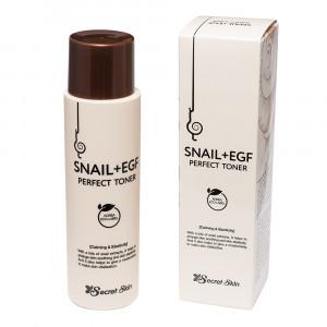 Тонер для обличчя з муцином равлика Secret Skin Snail+Egf Perfect Toner 150ml