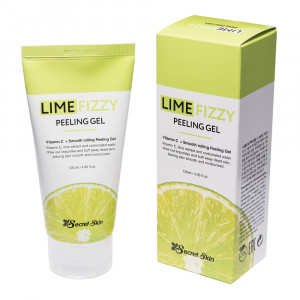 Пілінг-скатка з екстрактом лайма і вітаміном С - Secret Skin Lime Fizzy Peeling Gel 120ml