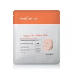 Омолоджуюча маска для обличчя з колагеном About Me MediAnswer Real Skin Fit Collagen Mask 35g