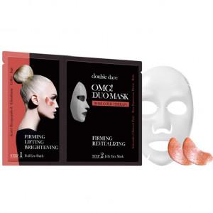 """Двокомпонентний комплекс з маски і патчів """"Зміцнення і ревіталізація"""" Double Dare OMG! Duo Mask Rose Gold Therapy"""