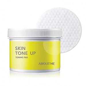 Тонер-пади для очищення обличчя About Me Skin Tone-Up Toning Pad 60шт