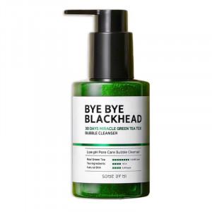 Маска-пінка від чорних цяток SOME BY MI Bye Bye Blackhead 30 Days Miracle Green TeaTox Bubble Cleanser 120g