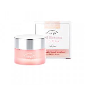 Нічна маска для губ з вітаміном Е і маслом камелії PETITFEE Oil Blossom Lip Mask 15g