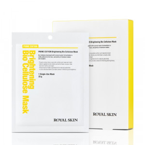 Біо-целюлозна освітлююча маска для обличчя  ROYAL SKIN Prime Edition Brightening Bio Cellulose Mask 5шт  (Термін придатності: до 26.09.2021)