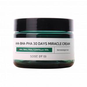 Кислотний крем для проблемної шкіри SOME BY MI AHA. BHA. PHA 30 Days Miracle Cream 60ml