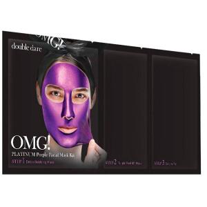 Трикомпонентний комплекс масок «Глибоке зволоження і релакс» Double Dare OMG! Platinum Purple Facial Mask Kit