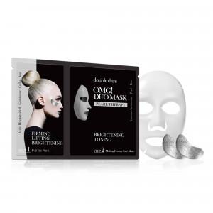 """Двокомпонентний комплекс з маски і патчів """"Сяйво і тонізація"""" Double Dare OMG! Duo Mask Pearl Treatment"""