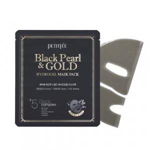 Гідрогелева маска з золотом і чорними перлами PETITFEE Black Pearl & Gold Hydrogel Mask Pack - 1шт