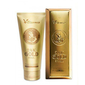 Пінка для вмивання з золотом і муцином равлика Elizavecca 24K Gold Snail Cleansing Foam 180ml
