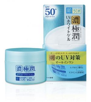 Сонцезахисний гіалуроновий гель для обличчя HADA LABO Koi-Gokujyun UV White Gel SPF50+ PA++++ 90g