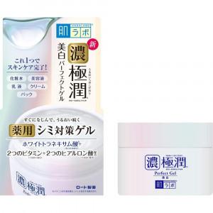 Відбілюючий гіалуроновий гель для обличчя з арбутином HADA LABO Koi-Gokujyun Whitening Perfect Gel 100g