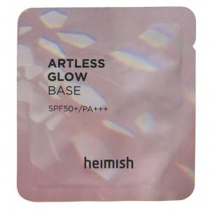 Пробник бази під макіяж з сяючим ефектом HEIMISH Artless Perfect Glow Base Sample SPF50+ PA++++ 1.5ml
