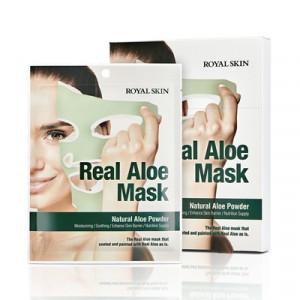 Маска для обличчя з алое ROYAL SKIN REAL ALOE MASK 5шт (Термін придатності: до 04.07.2021)