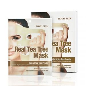 Маска для обличчя з чайним деревом ROYAL SKIN REAL TEA TREE MASK  1шт (Термін придатності: до 04.07.2021)