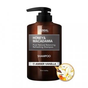 "Безсульфатний шампунь для волосся ""Бурштинова ваніль"" KUNDAL Honey & Macadamia Amber Vanilla Shampoo 500ml"