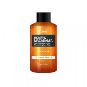 "Гель для душу ""Бурштинова ваніль"" KUNDAL Honey & Macadamia Body Wash Amber Vanilla 100ml"