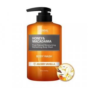 "Гель для душу ""Бурштинова ваніль"" KUNDAL Honey & Macadamia Body Wash Amber Vanilla 500ml"