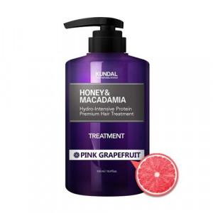 "Маска-Кондиціонер для волосся ""Рожевий грейпфрут"" KUNDAL Honey & Macadamia Treatment Pink Grapefruit 500ml"