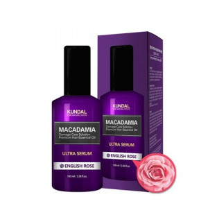 "Масло-Сироватка для волосся ""Англійська троянда"" KUNDAL Macadamia Ultra Serum English Rose 100ml"
