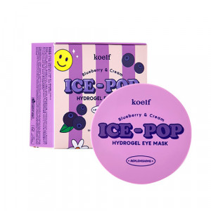 Гідрогелеві патчі для очей з лохиною та вершками KOELF Blueberry & Cream Ice-Pop Hydrogel Eye Mask 60шт
