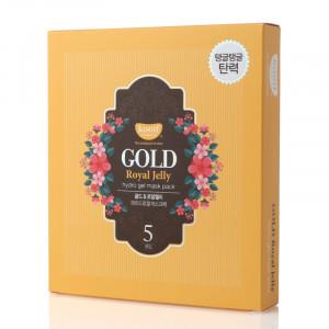 Гідрогелева маска для обличчя з золотом KOELF Gold & Royal Jelly Mask 30g - 5 шт