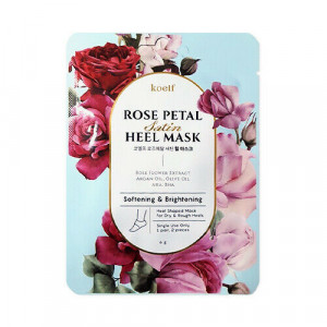 Пом'якшувальна маска для п'ят KOELF Rose Petal Satin Heel Mask 6g
