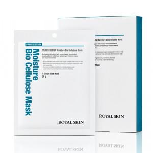 Біо-целюлозна зволожуюча маска для обличчя ROYAL SKIN Prime Edition Moisture Bio Cellulose Mask 5шт (Термін придатності: до 26.09.2021)