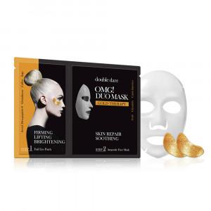 """Двокомпонентний комплекс з маски і патчів """"Пом'якшення і відновлення"""" Double Dare OMG! Duo Mask Gold Treatment"""