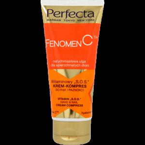 """Крем для рук і нігтів з вітамінами PERFECTA Fenomen C Vitamin """"S.O.S"""" Hand & Nail Cream Complex 80ml"""
