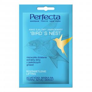 Ліфтинг-маска для обличчя, шиї та зони декольте з ластівчиним гніздом PERFECTA Bird s Nest Asiatic Face Mask 10ml