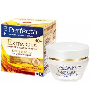 Регенеруючий крем-олія для обличчя для віку 40+ PERFECTA Extra Oils Cream 40+ 50ml