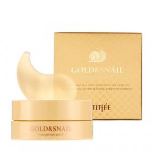 Гідрогелеві патчі для очей з золотом та равликом PETITFEE Gold & Snail Hydrogel Eye Patch 60шт