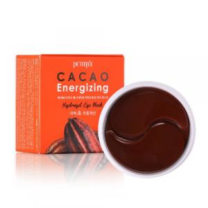 Гідрогелеві тонізуючі патчі під очі з екстрактом какао PETITFEE Cacao Energizing Hydrogel Eye Patch 60шт