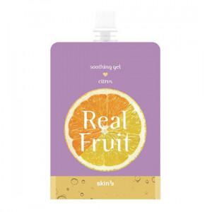 "Відновлюючий гель ""Цитрус"" Skin79 Real Fruit Soothing Gel Citrus 300g"