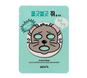 """Противовоспалительная маска для лица """"Мышка"""" Skin79 Animal Mask Mouse With Blemishes 23g"""