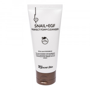 Пінка для вмивання з муцином равлика Secret Skin Snail+EGF Perfect Foam Cleanser 100ml