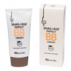 ББ крем з муцином равлика Secret Skin Snail+EGF Perfect BB Cream 50g