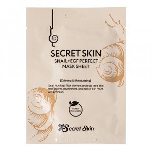 Маска для обличчя з муцином равлика Secret Skin Snail+EGF Perfect Mask Sheet 20g