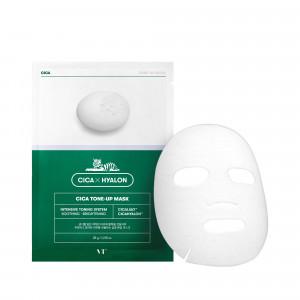 Вирівнююча тон тканинна маска для чутливої шкіри VT COSMETICS Cica Tone Up Mask 28g